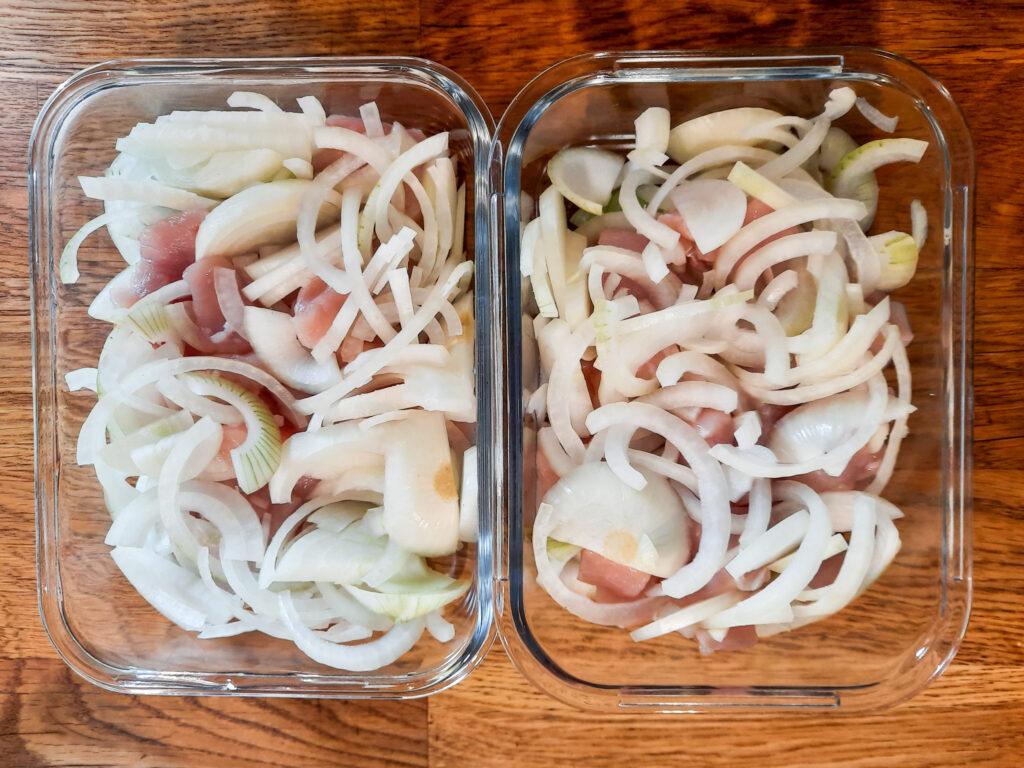 Zwiebel-Sahne-Hähnchen Zubereitung